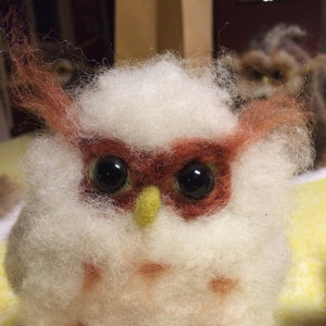 Needle Felted Owl by Teresa at Wooleybullycreations