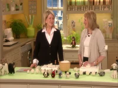 Photo of Jody Lunsford with Martha Stewart during Simply Remarthable Contest