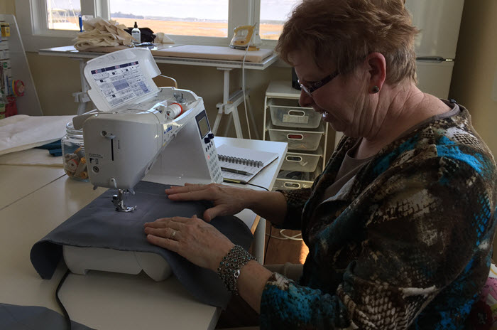 Carolyn's First Sewing Lesson