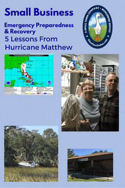 Small Business Emergency Preparedness Hurricane Matthew