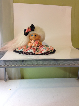 Troll Doll Model in Photo Box