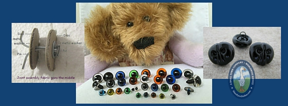 Teddy Bear Joints, Eyes, Noses Tutorials Newsletter Banner
