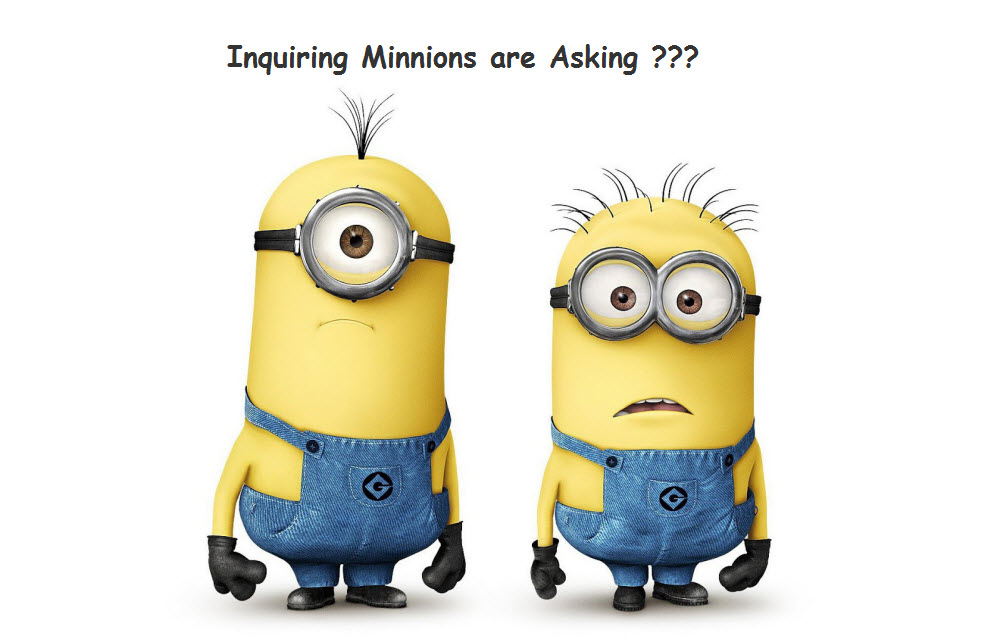 Photo of Minnion characters asking a question