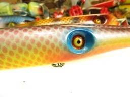 Fish Lures Tackle Crafter Hand Crafted by Aage Bjerring with glass lure eyes