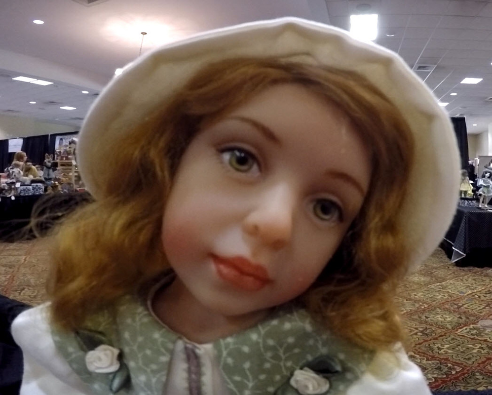 Tansey Doll by Beverly Warren on display at IDTS