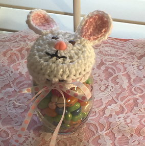 Bunny Rabbit Crochet Pattern For Candy Jar Top