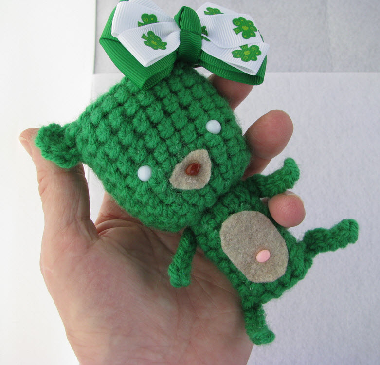 Saint Paddy's Day Teddy Bear Amigurumi Crochet