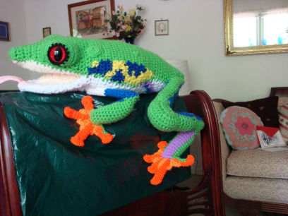 Red Eyed Tree Frog Hand Crafted
