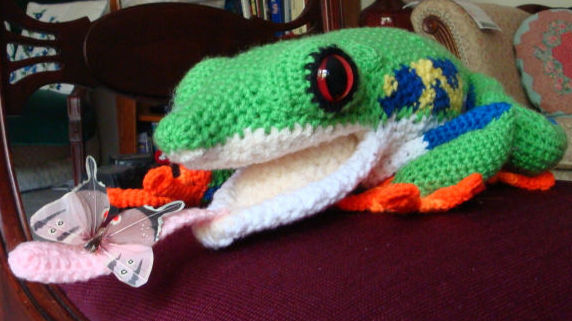 Hand Crafted Red Eyed Tree Frog Picture