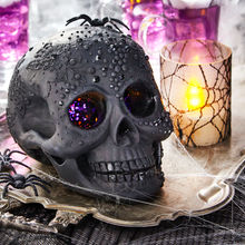 Skull, Spider, and Candle Decoration for Halloween Party
