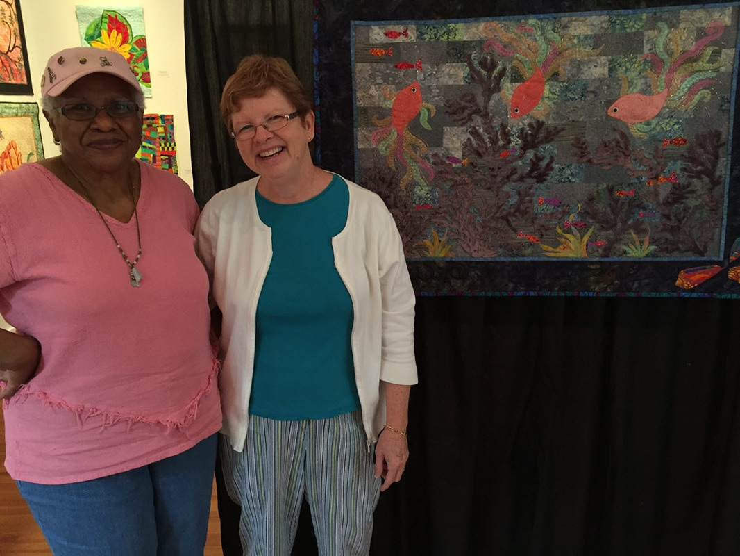 The Quilt Show Photo of Pat Bennett with Carolyn Jenkins