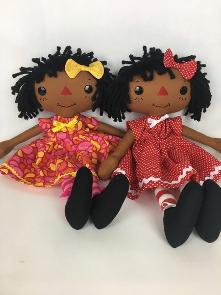 African American Raggedy Ann & Andy Hand Crafted by Stephaine Dean